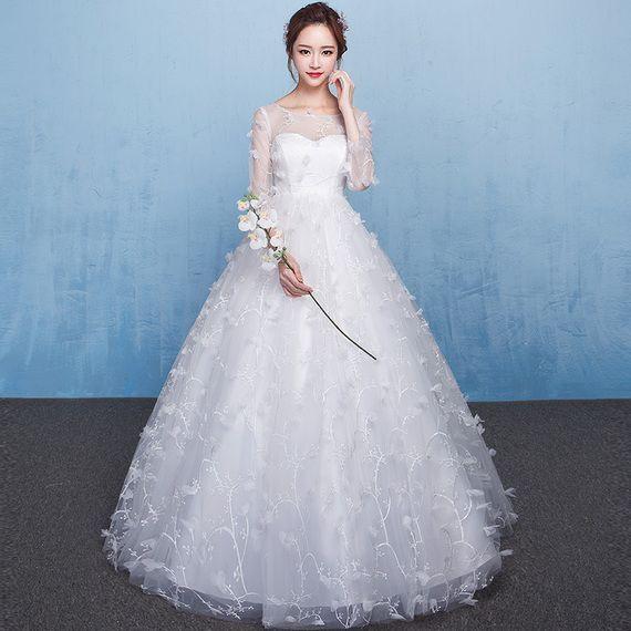 Pregnant women wedding dress 2017 new summer new arrival Qi high ...