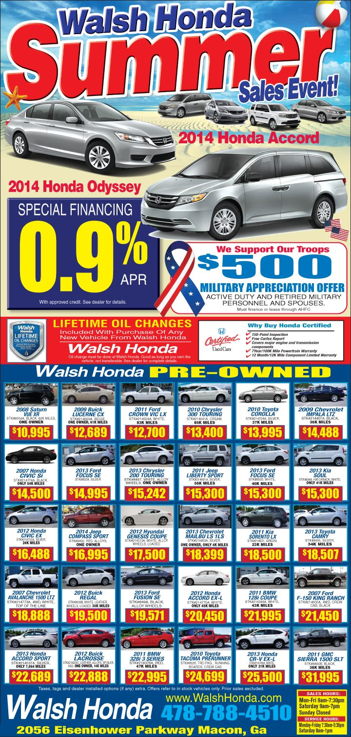 Walsh Honda Used Cars Macon Ga