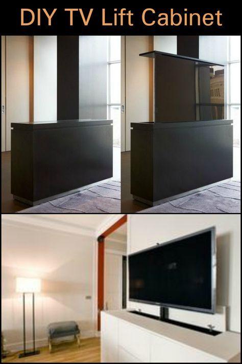 Diy Tv Lift Cabinet In 2020 Tv Verbergen Slaapkamer Tv