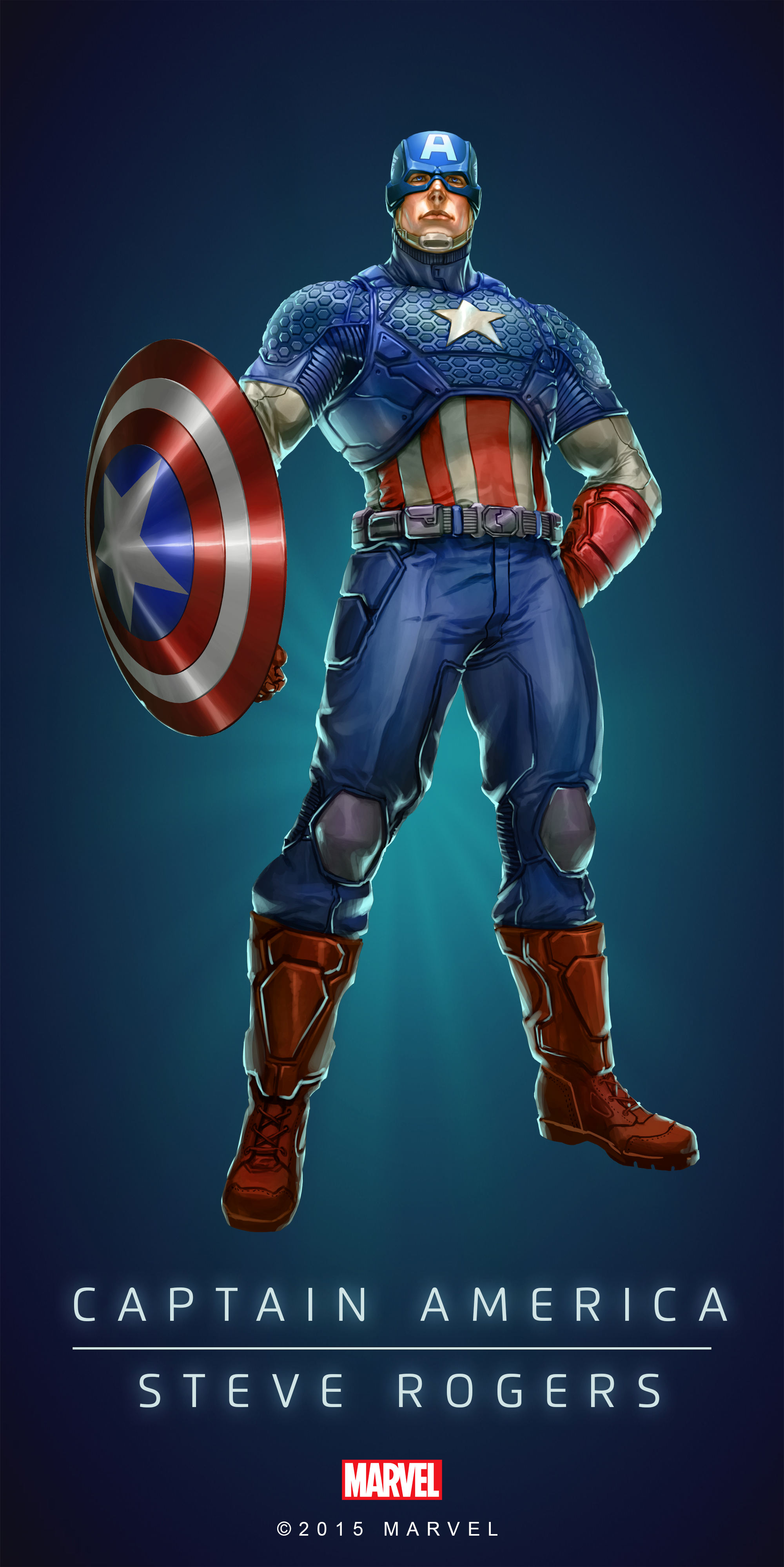 captain america fan art captain america steve rogers in marvel 39 s puzzle quest by. Black Bedroom Furniture Sets. Home Design Ideas