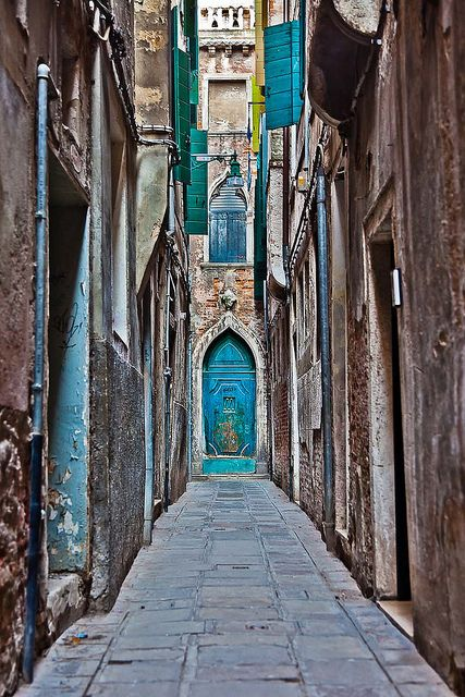 Blues in a Blind Alley of Venice, Italy - Anthony Pappone
