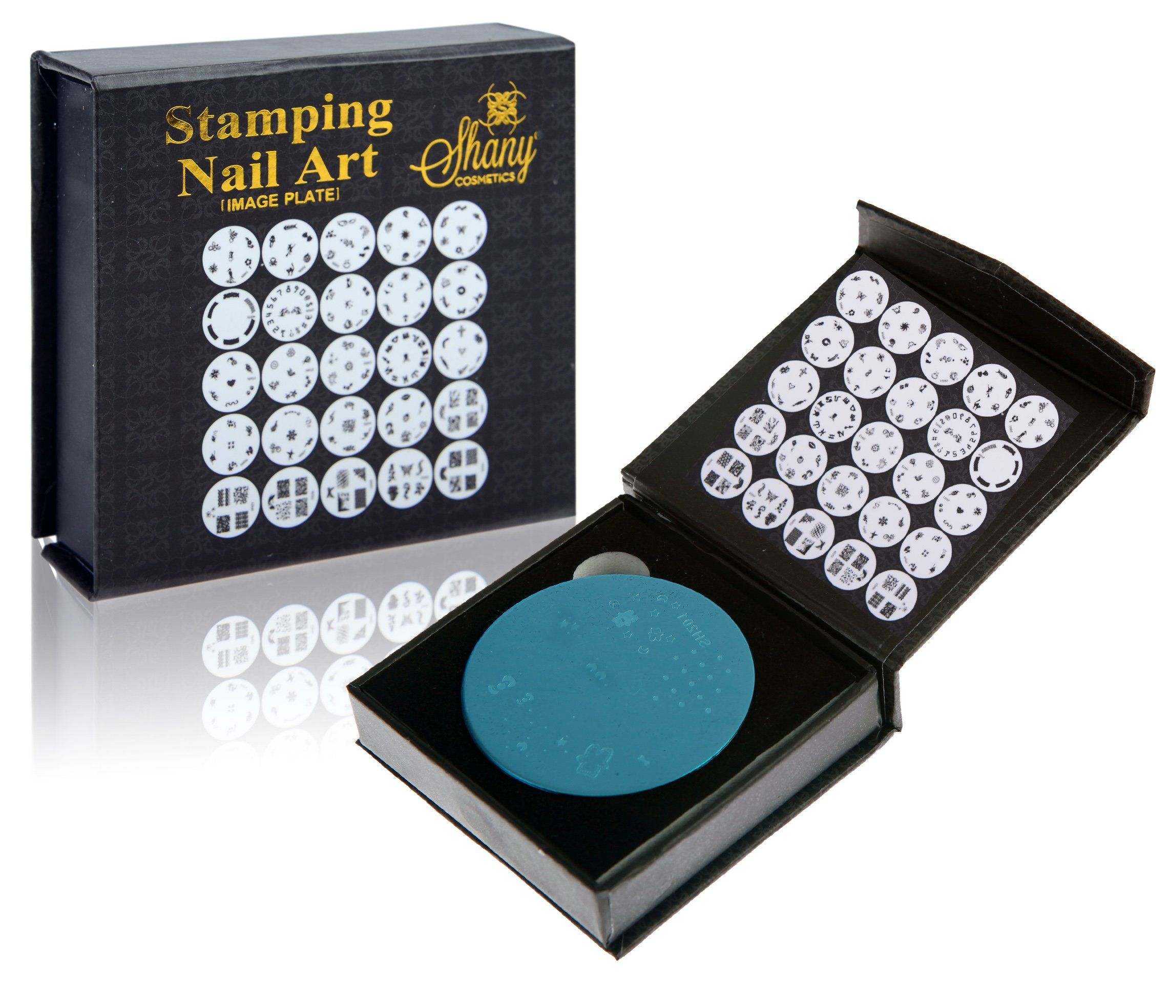 SHANY Cosmetics New Image Plates Set Nail Polish Image Plates with Storage, 25 Count