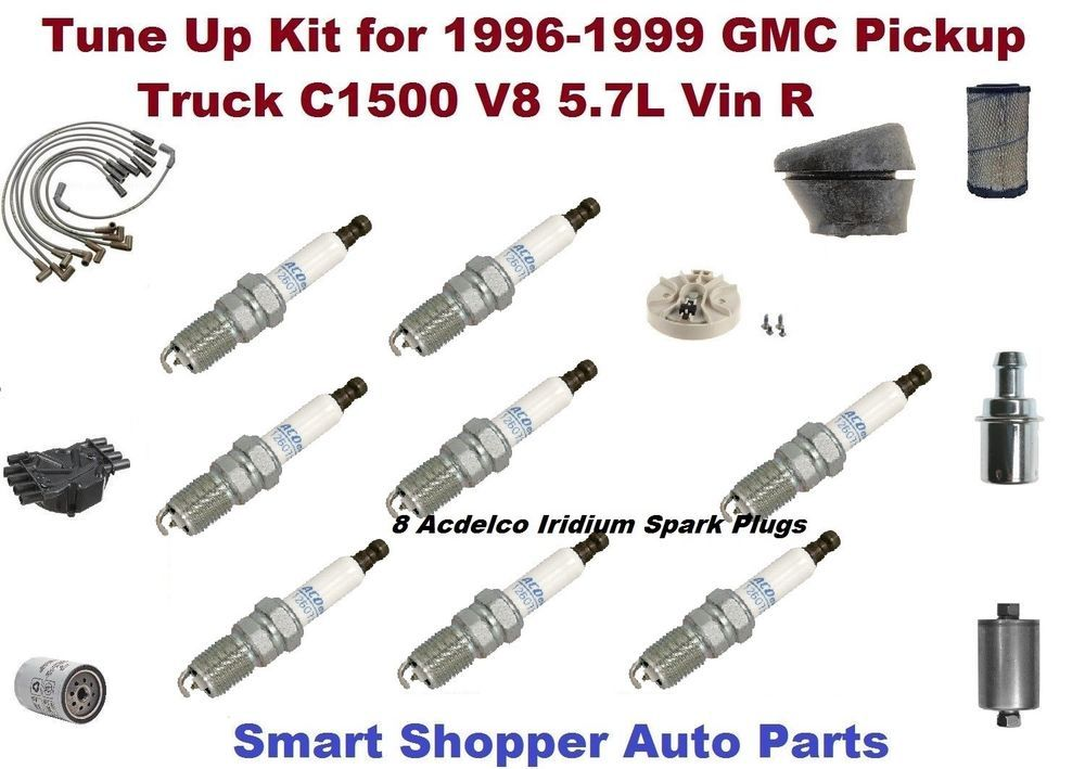 Details about Ignition Tune Up For GMC C1500 Spark Plug Wire ... on