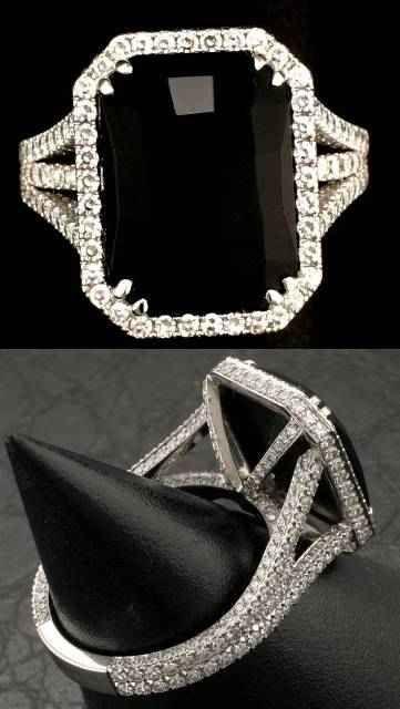 black onyx and diamond engagement ringinteresting - Black Onyx Wedding Ring