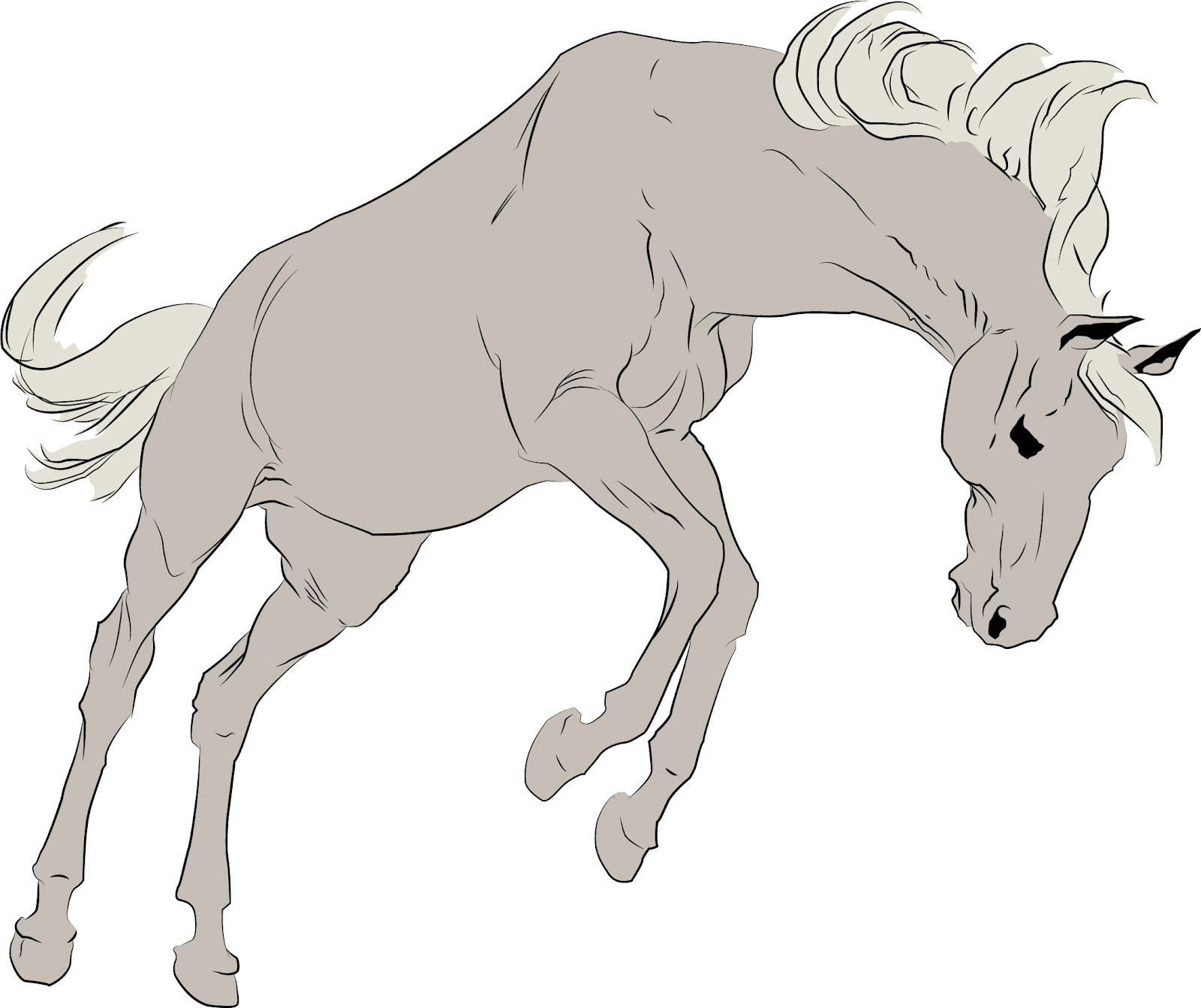 bucking horse how to drawhorse