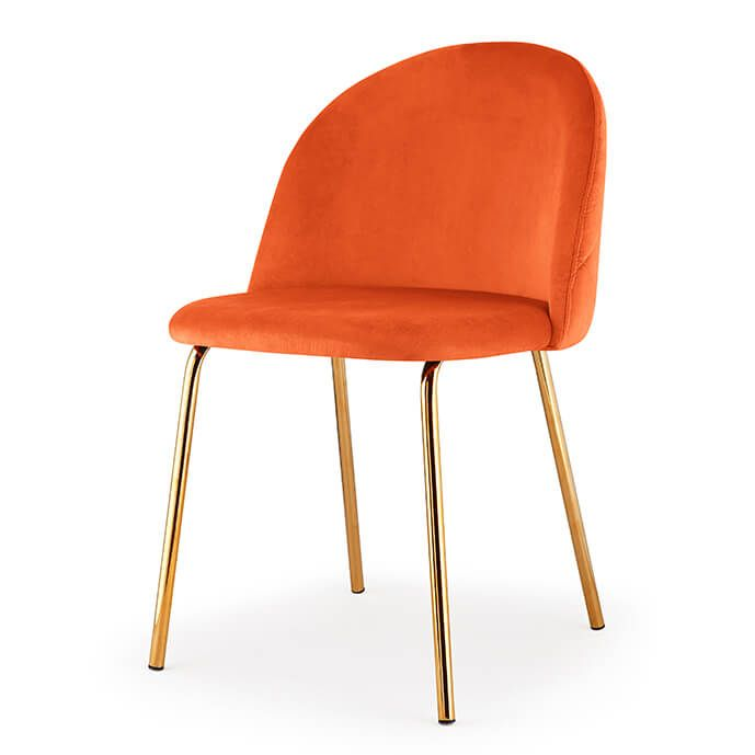 Best Adela Velvet Side Chair Gold Orange Set Of 2 Velvet 400 x 300