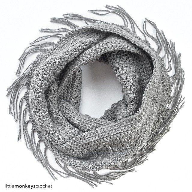 Yenni Fringe Infinity Scarf Crochet Pattern | Free Infinity Scarf ...