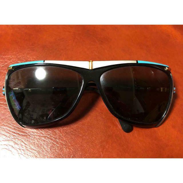 CAZAL Vintage Mod 862 Col 606 SUNGLASSES Blue Gold Silver Black W