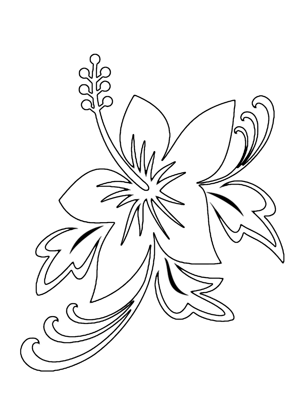 Tropical Flower Coloring Pages Flower Coloring Page Printable Flower Coloring Pages Bird Coloring Pages Flower Coloring Pages