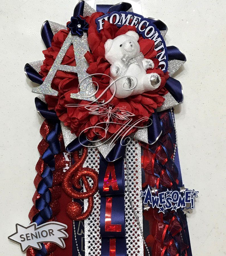 Homecoming Mum-Petite Single, Waist length Personalized Band Homecoming Mum, High School Mum, Freshman, Sophomore, Junior, Senior, Texas Mum