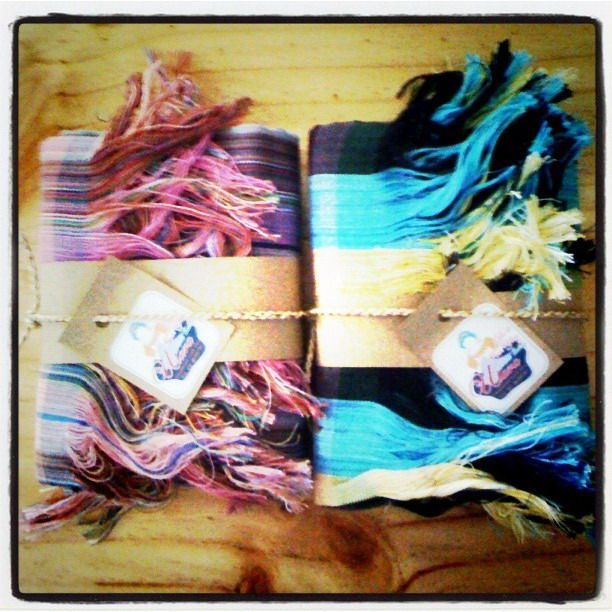 Gift for Ulara USA.Handmade Scarves from cotton yarn by Ulara Thailand