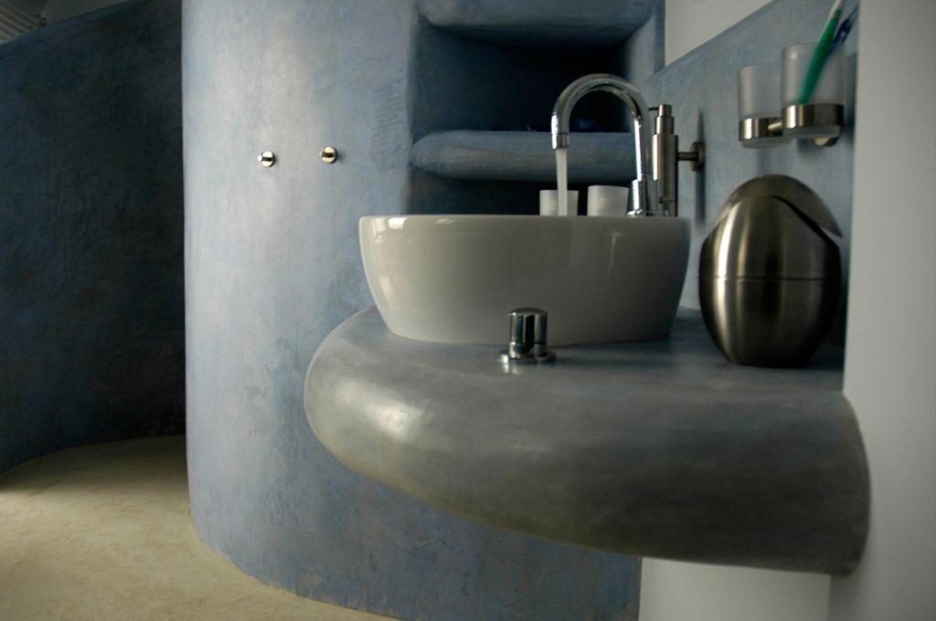 Tadelakt kalkstuc badkamer | Bathroom | Pinterest