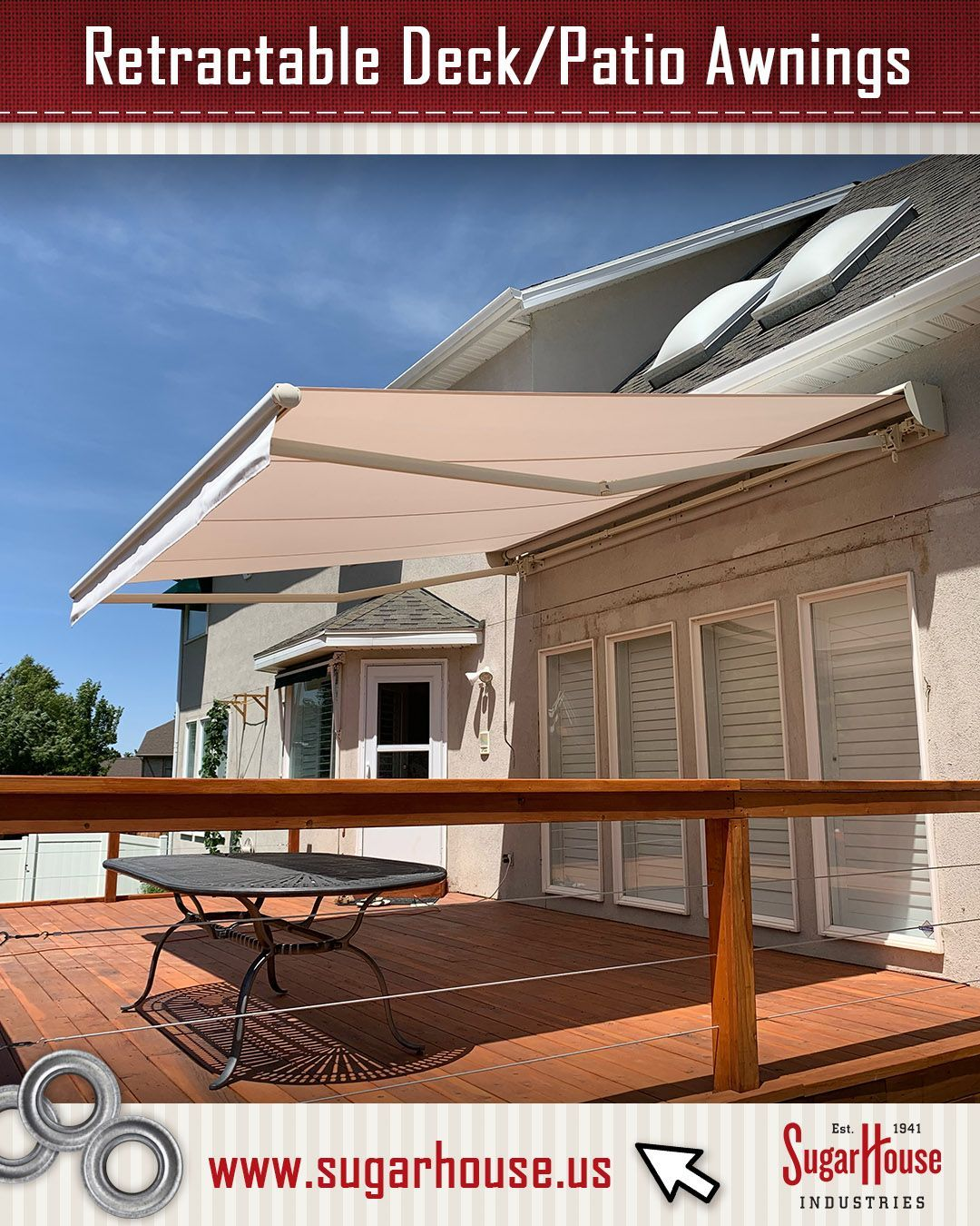 Retractable Awnings Provide Shade When You Want It And Can Roll Up To Let The Sun Shine In Click The Link To See A In 2020 Patio Awning Residential Awnings Awning