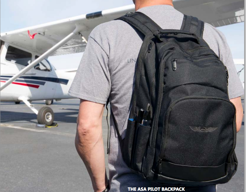 bcc04ba4ff ASA AirClassics Pilot Backpack. This compartmentalized backpack for aviation  students and pilots will hold books