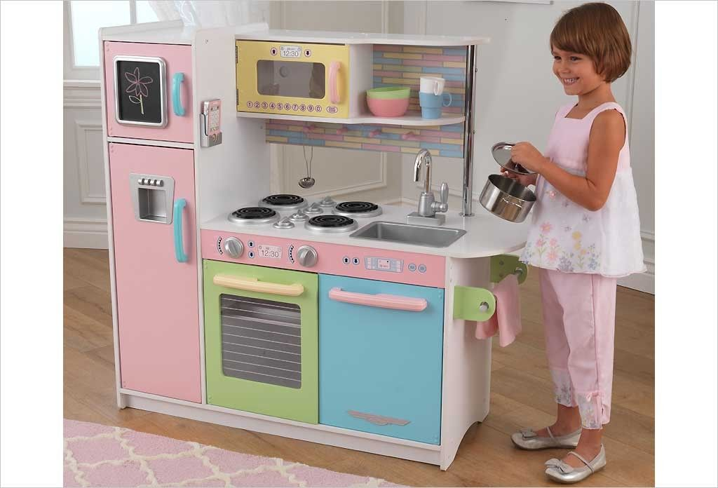 Cuisine Kidkraft en bois jouet - Cuisine enfant Uptown pastel ...