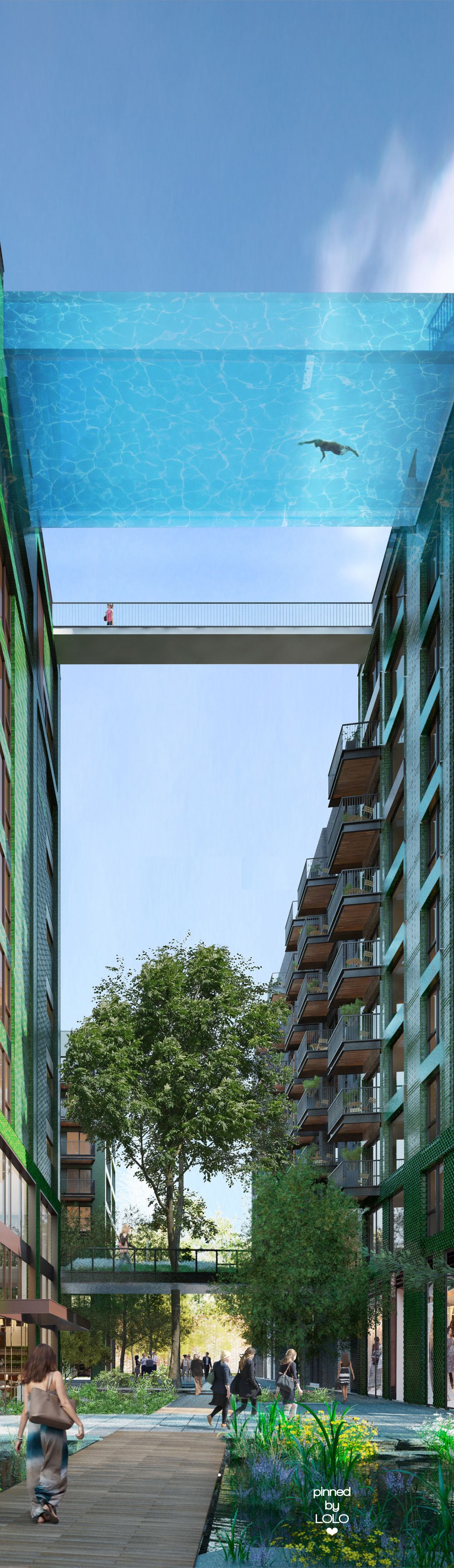 First Glass Bottom Sky Pool In London Lolo Modern Pools Pinterest Architecture Hotel