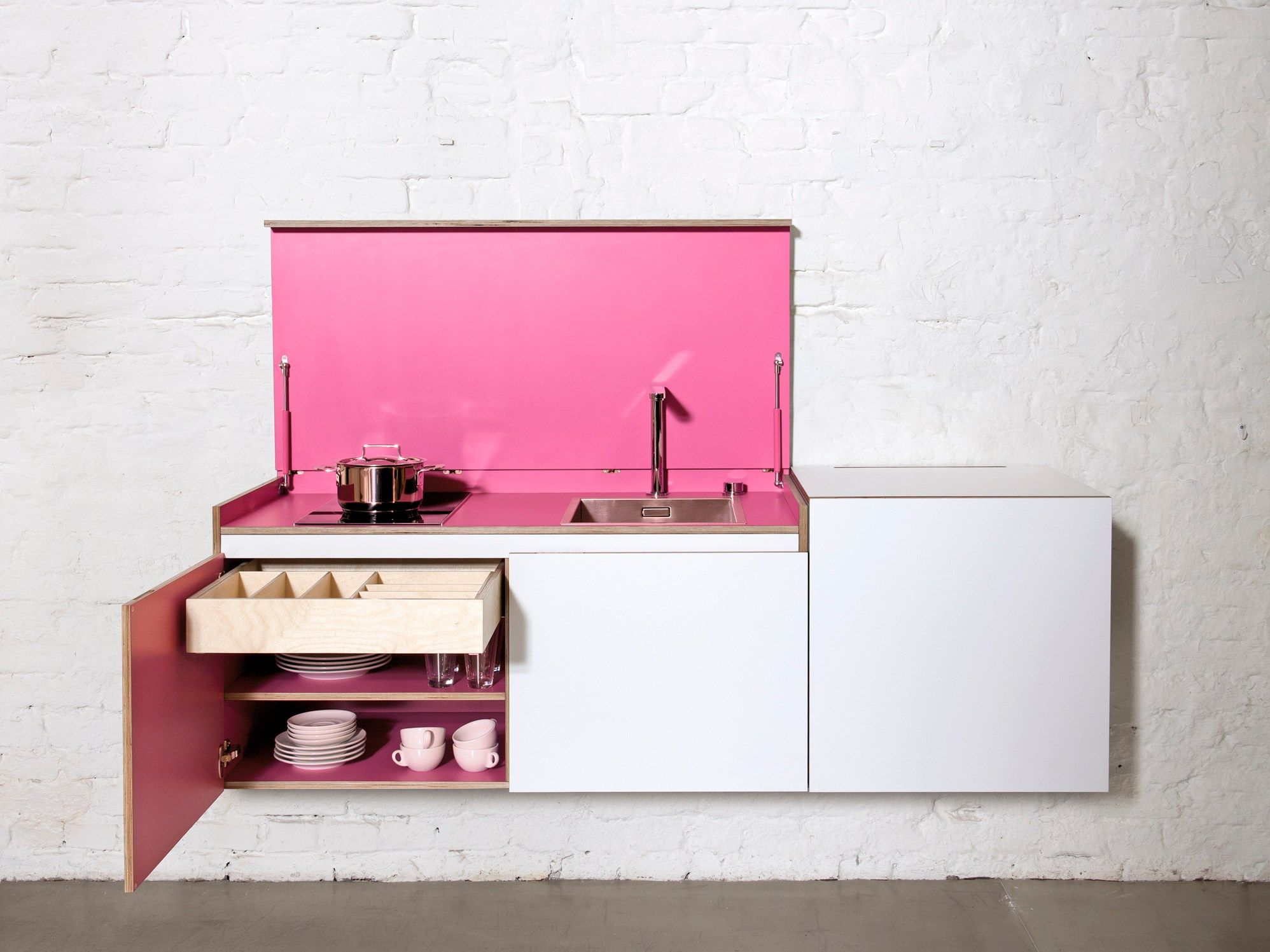 Modular Plywood Mini Kitchen MINIKI By Miniki Design Tobias Schwarzer