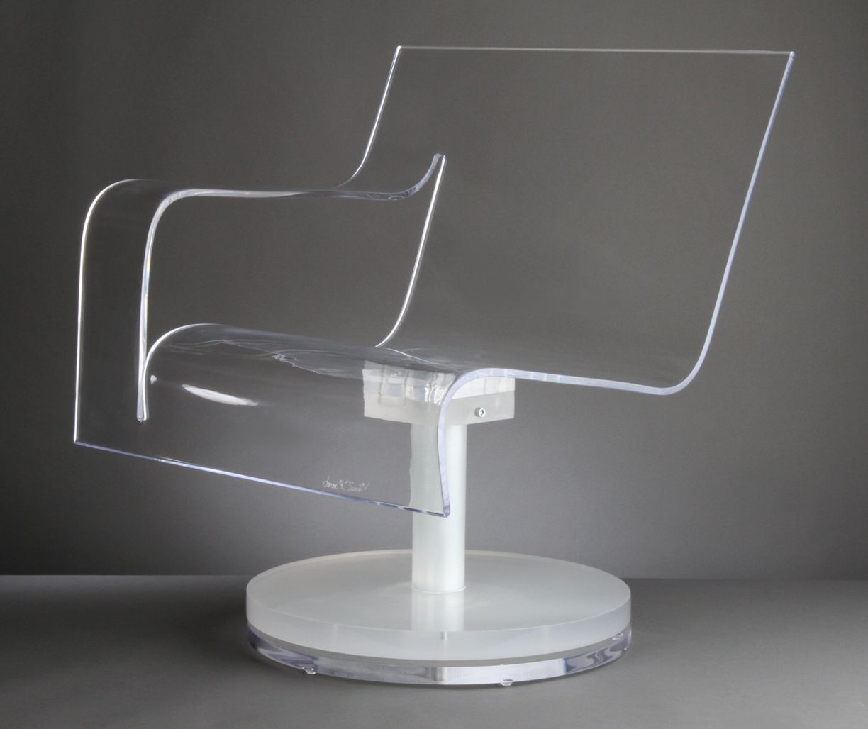 clear acrylic swivel office chair detecto scale hand crafted thinking with base