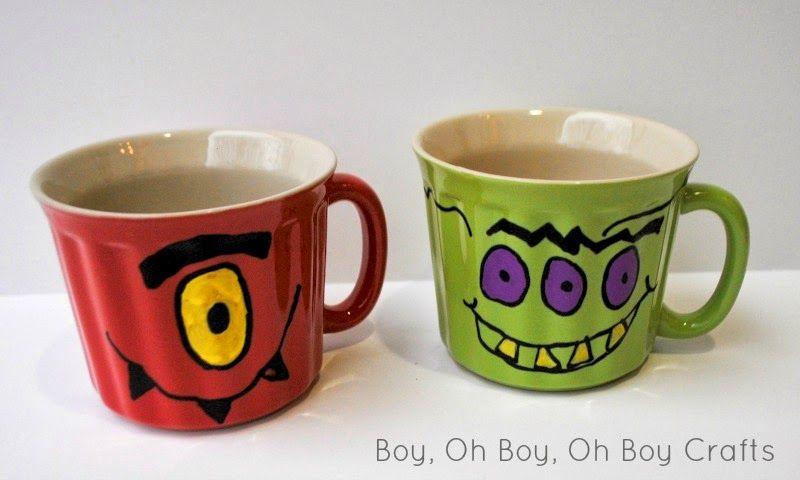 Boy, Oh Boy, Oh Boy Crafts: Handmade Gifts For Boys: Monster Soup Mugs