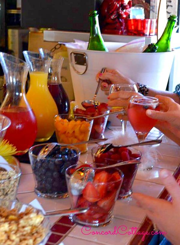 champagne yogurt bar bridal shower for my sweet friend at sol grill great restaurant in newport beach delish food wwwconcordcottagecom