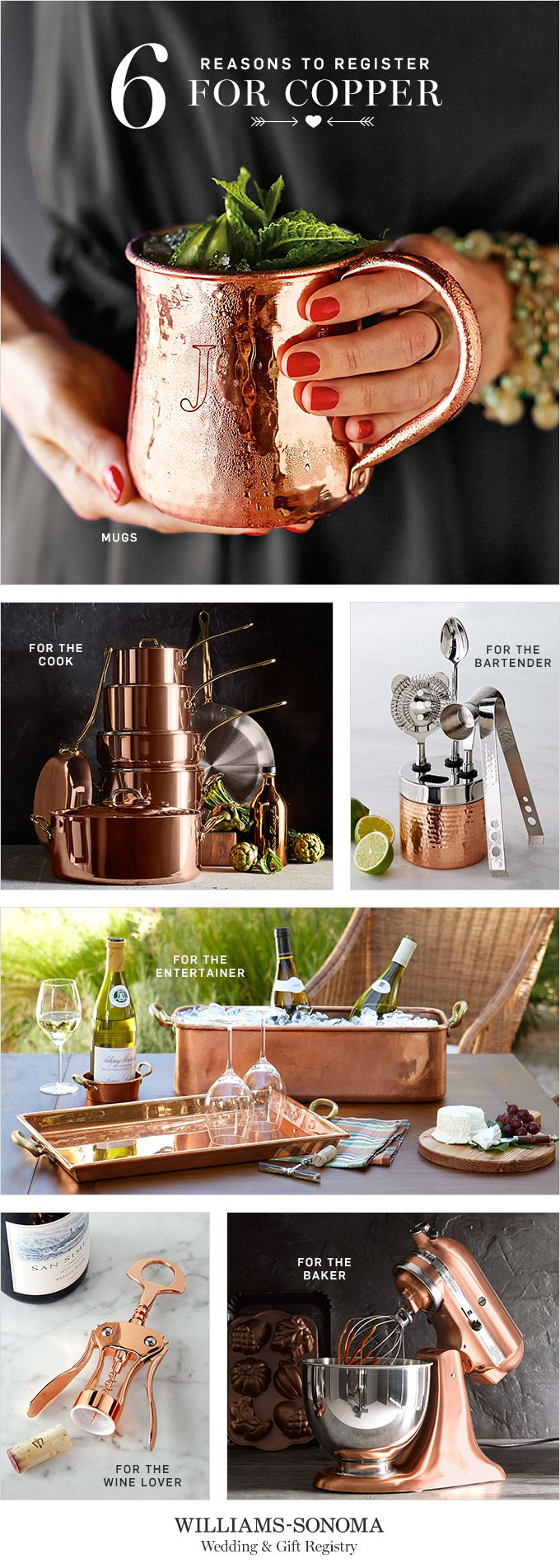 Create A Registry At Williams Sonoma And You Ll Automatically Be Entered For A Chance To Win Copper Kitchen Home Bridal Gift Registry