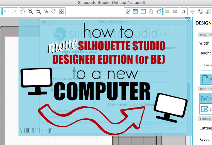 Installing Silhouette Studio Designer Edition Or Business Edition Software On New Computer Silhouette School Silhouette School Blog Silhouette Studio Designer Edition