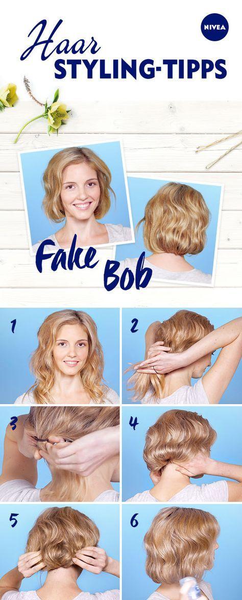 Fake Bob So Schummeln Sie Lange Haare Kurz Flechtkunst Lange