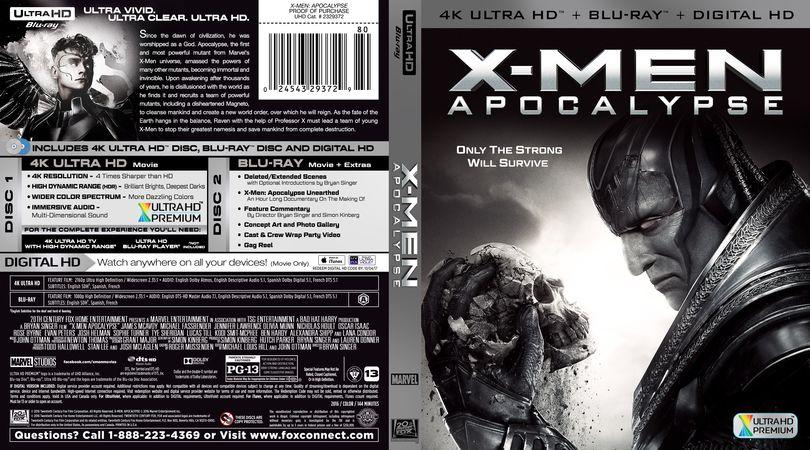 Custom 4k Uhd Blu Ray Covers X Men Apocalypse Efx Coverart Gallery X Men Apocalypse Apocalypse Blu Ray