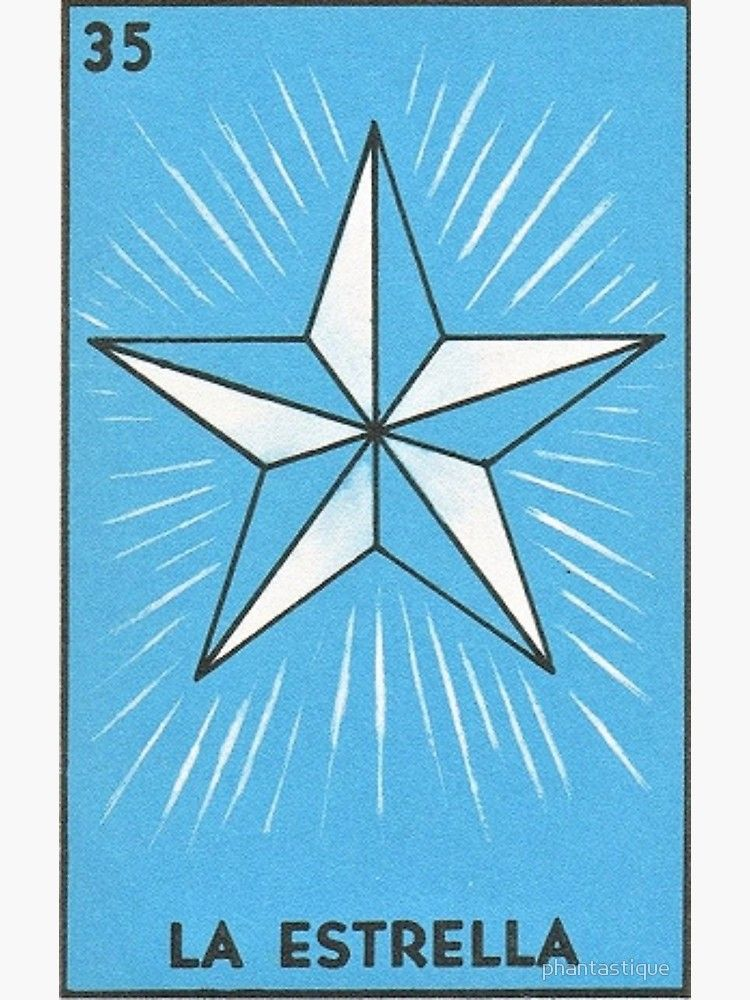 La Estrella Tarot Loteria Canvas Print By Phantastique Loteria Cards Art Loteria