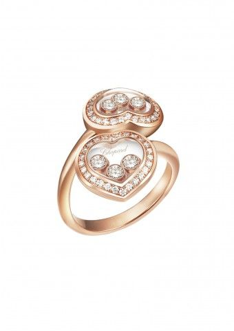 Anything rose gold!! Chopard | Happy Diamonds Icons Ring - 18-carat rose gold and diamonds |
