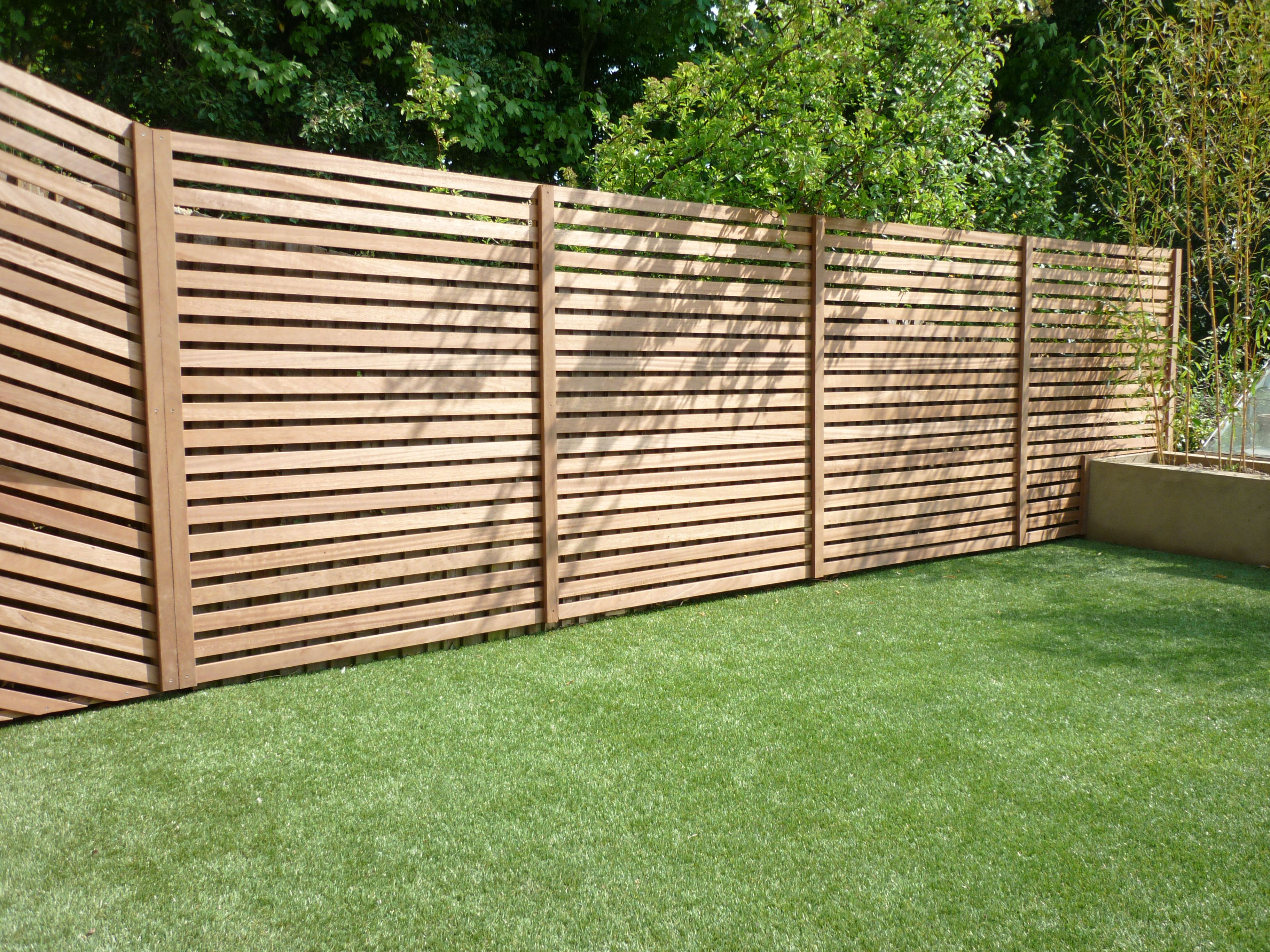Iroko Slatted Fence Outdoor Shower Enclosure Contemporary Fence