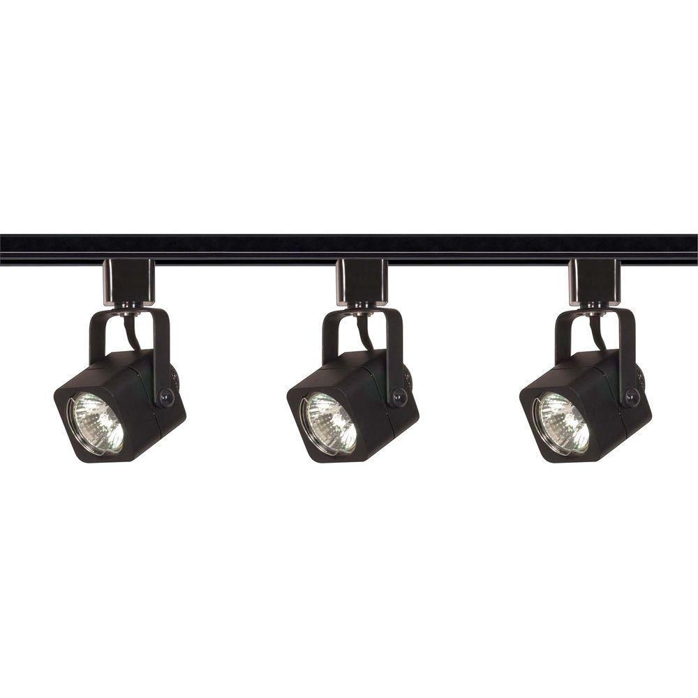 glomar light mr black square track lighting kit line voltage  - glomar light mr black square track lighting kit line voltage