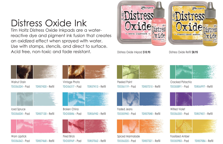 Image Result For Distress Oxide Color Chart Tim Holtz Stamps Oxides