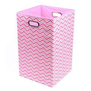 Modern Littles Rose Zig Zag Folding Laundry Basket