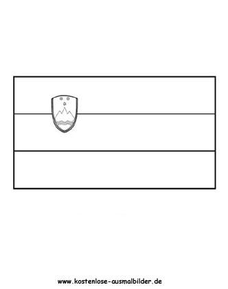 Ausmalbild Fahne Flagge Slowenien Slowenien Fahnen Ausmalen