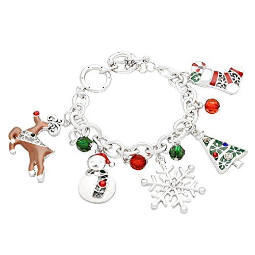 Festive Christmas Holiday Charm Bead Bracelet Silver Color Sale Rosemarie Collections http://www.amazon.com/dp/B015TLRVEW/ref=cm_sw_r_pi_dp_H9JXwb04JSF7K