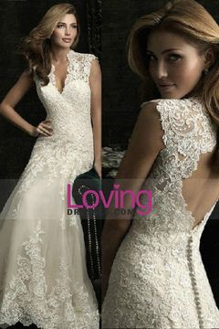 2015 Sweetheart Wedding Dresses A Line With Applique USD 289.99 LDP256CEEF - LovingDresses.com for mobile