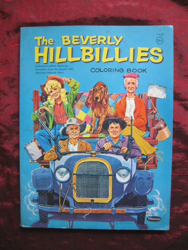 1963 ~ RARE~ BEVERLY HILLBILLIES~ Coloring book~ vintage Whitman ...