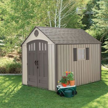 Costco Lifetime® 8 Ft X 10 Ft Outdoor Storage Shed 640 x 480