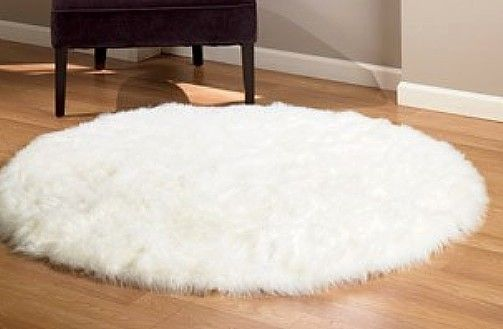 Polar Bear Round Fake Fur Rugs White Faux Fur Rug Faux Sheepskin Rug White Fur Rug