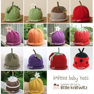 c31328d32 some of my baby Fruit hats www.littleknitwitz.co.uk