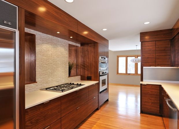 Mid Century Modern Kitchen By Shelter Architecture Clean Lines In