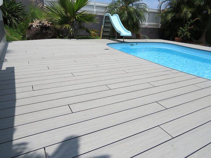 Ocewood® - Plage de piscine tropicale en bois composite Optima Plus ...