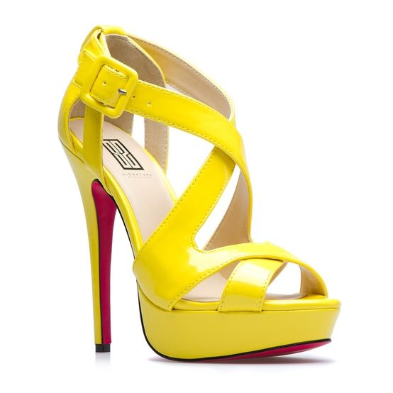 1000  images about wedding shoes on Pinterest | Yellow high heels