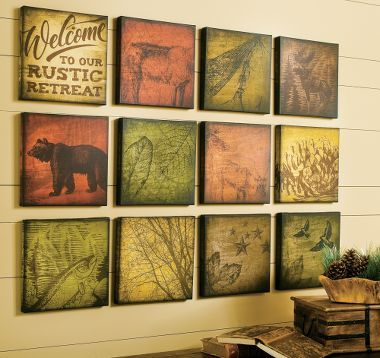 Rustic Themed Canvas Art