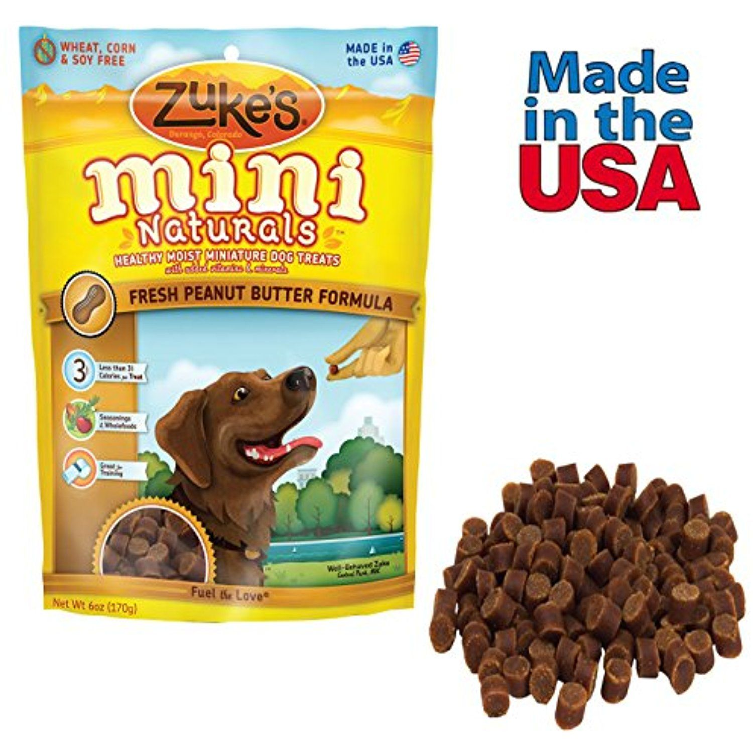 Peanut Butter Dog Treats Made In Usa Zukes Mini Naturals For