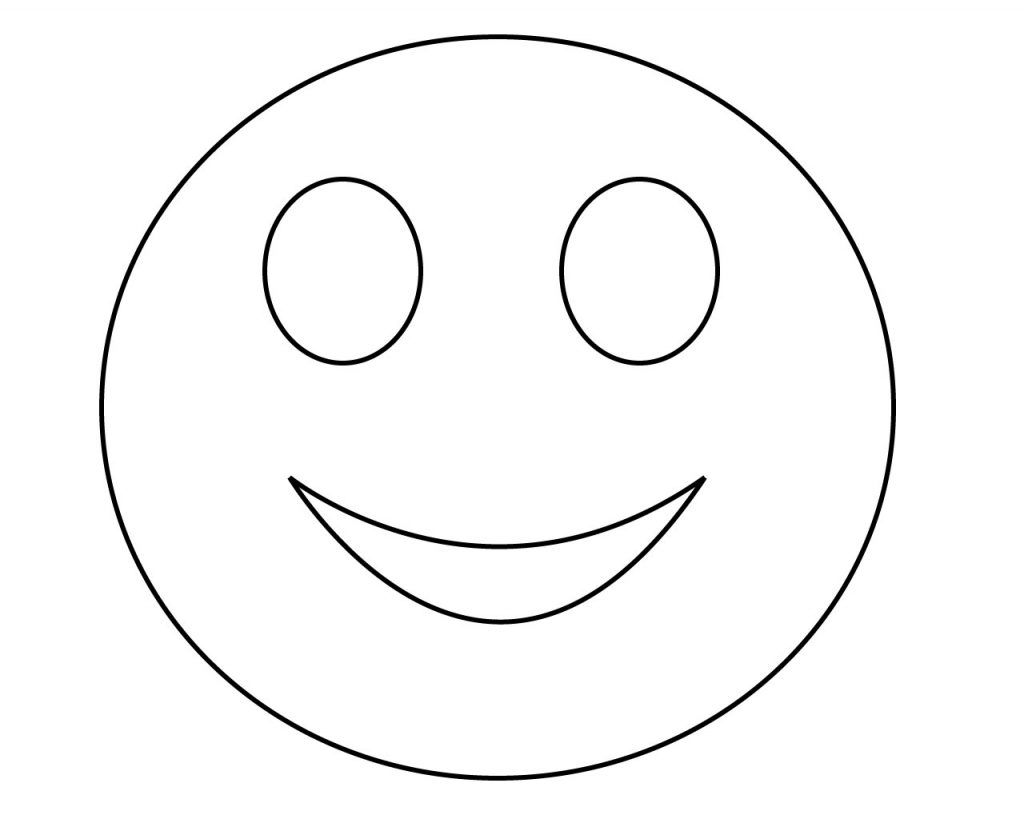 Happy Emoji Coloring Pages