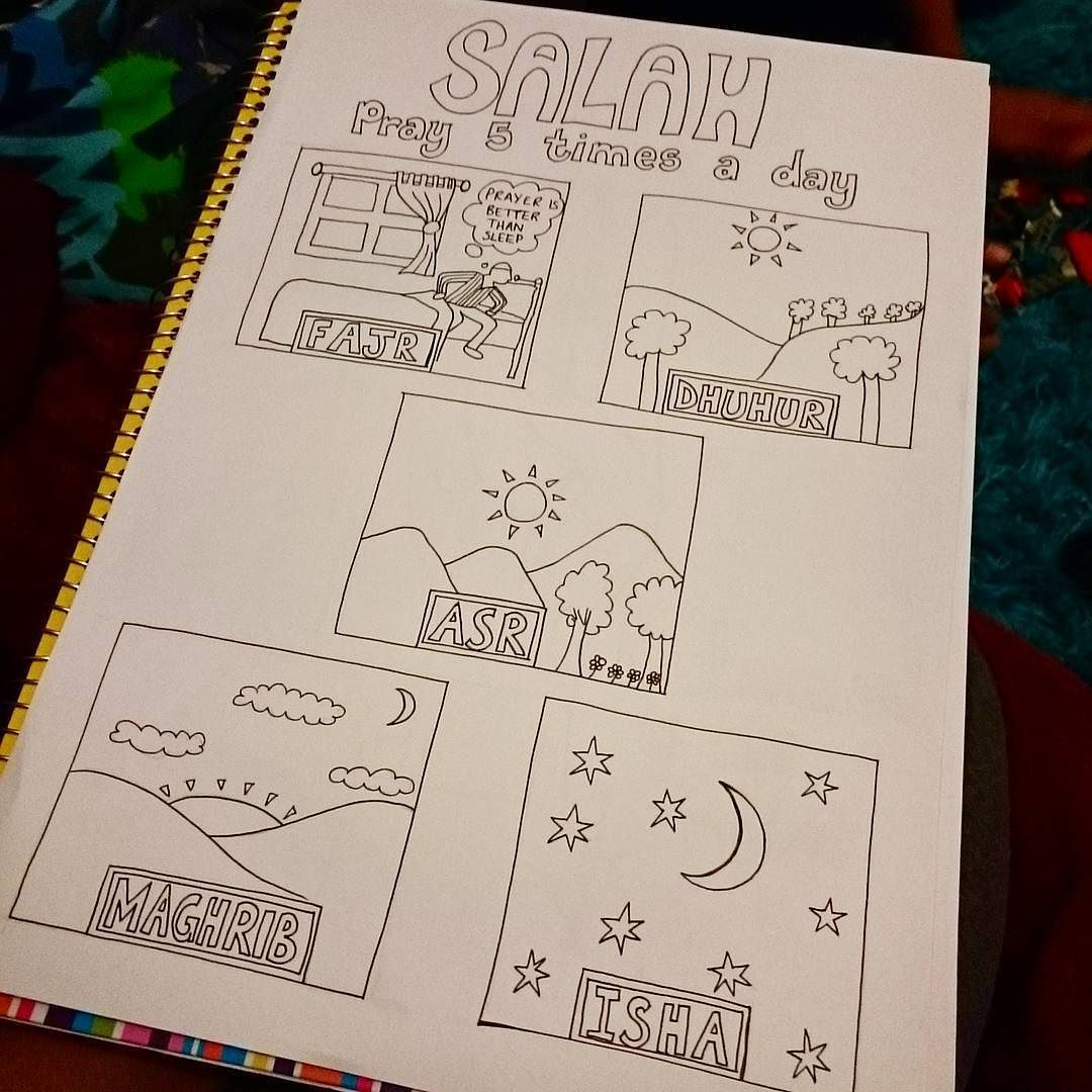 Yezarck On Instagram A Colouring Sheet I Designed For My Kids Class Islamic Nursery Worksheets Kidscolouri Coloring For Kids Kids Class Coloring Sheets