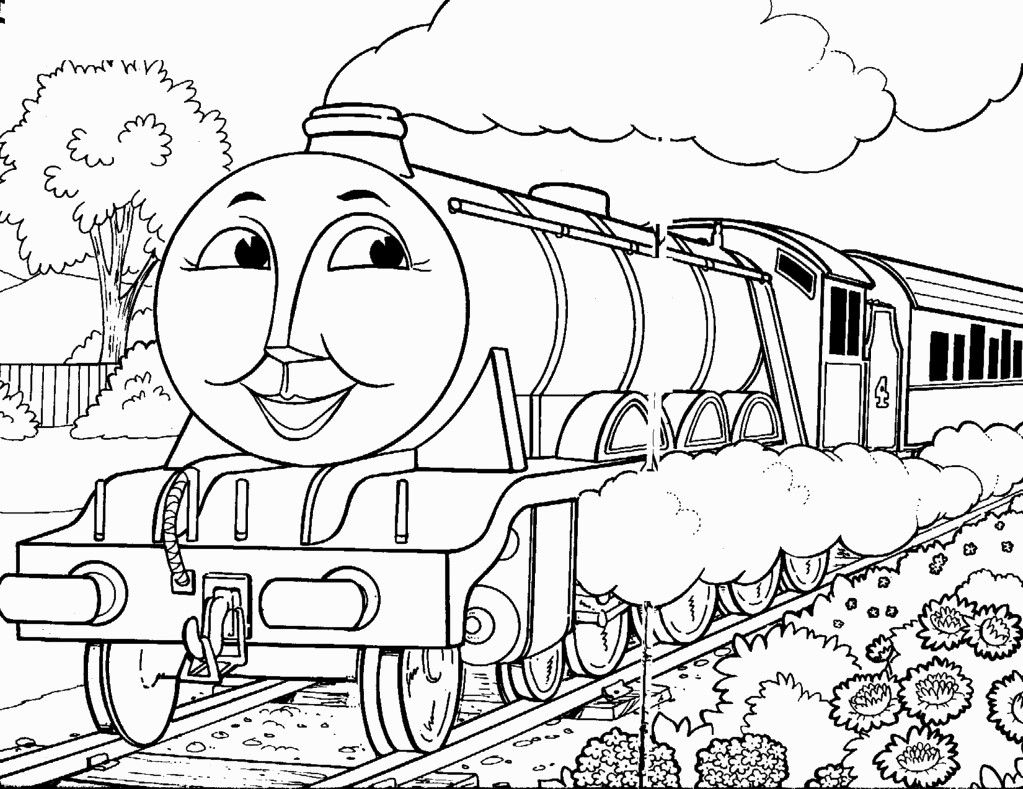 Free Coloring Pages Trains Thomas Coloring Pages Pinterest