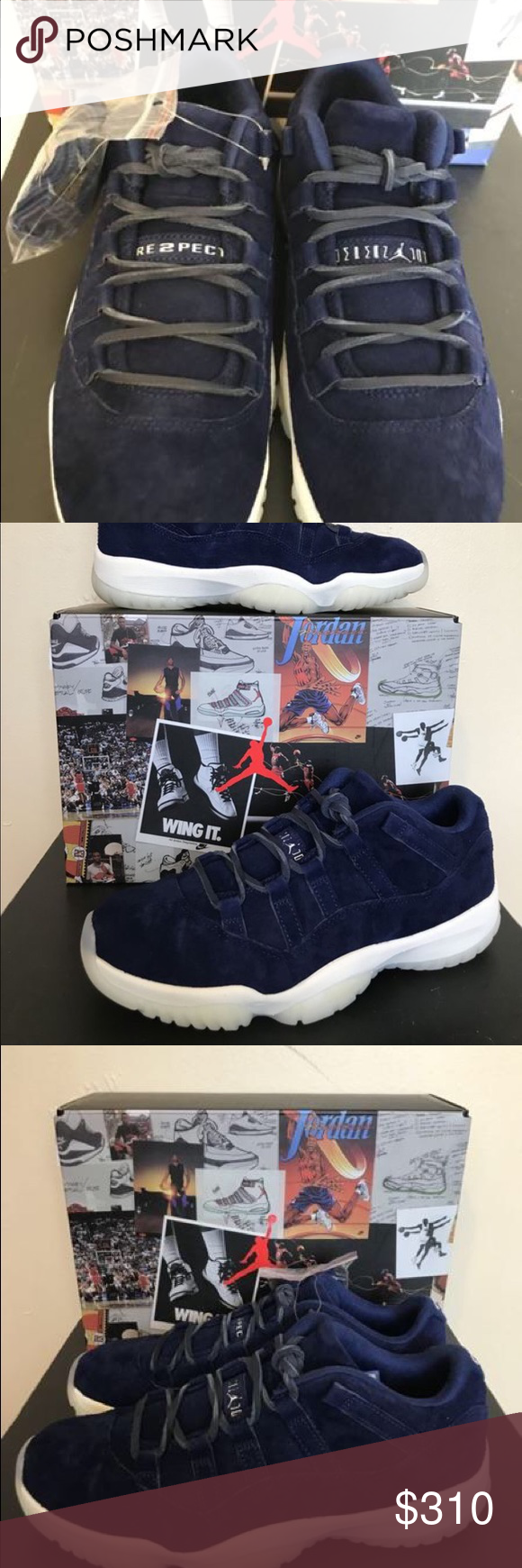 5630d034ea9 Air Jordan 11 retro low too respect Jester navy air Jordan 11 low retro  respect. Will ship out same day as payment. Thank you for visiting my store.